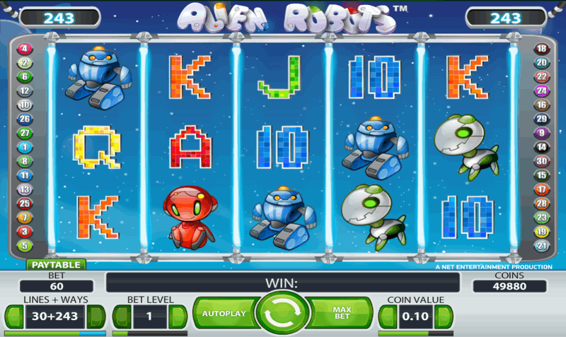Alien Robots Slot Screenshot