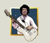 Jimi Hendrix Pick n Click