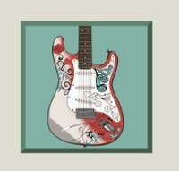 Jimi Hendrix Red Guitar