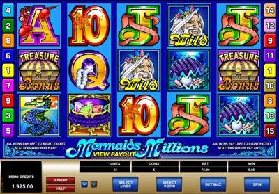 Mermaids Millions 400