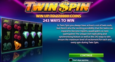 Twin Spin 243 Ways to Win